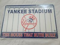 YANKEE STADIUM THE HOUSE THAT RUTH BUILT METAL SIGN SEALED MLB BASEBALL