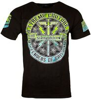 XTREME COUTURE by AFFLICTION Men T-Shirt XC SQUADRON Tatto Biker MMA GYM $40