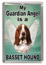 "Basset Hound Dog Fridge Magnet ""My Guardian Angel is a .. "" by Starprint"