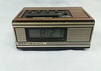 Spartus Saturn II Quartz mini battery operated alarm clock in Working order