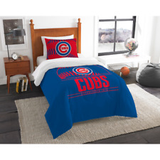 "Chicago Cubs MLB ""Grand Slam"" Twin Comforter Set FLY THE W"