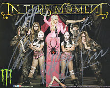"""In This Moment band Reprint Signed 8x10"""" Photo #3 RP Maria Brink Autographed"""