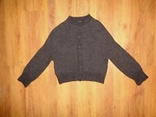 NEIL BARRETT BROWN ALPACA/WOOL KNITTED BUTTONS DETAIL CROPPED JUMPER-XS