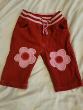 NWT 6-12M Mini Boden Red Soft Jersey Jeans Heart Patch Pockets LAST Pair