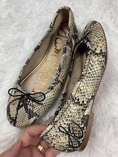 Sam Edelman Felicia Snake Print Leather Slip On Ballet Flats Women's Size 8 M