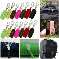 Buckle Outdoor Survival Kit Paracords Cord Keychain Paracord Rope Carabiner