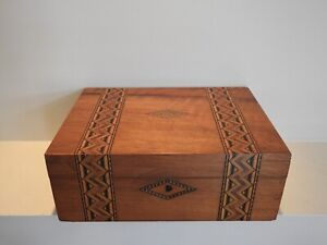 Antique Writing Box 1880 Victorian With Slope and Original Ink Bottle