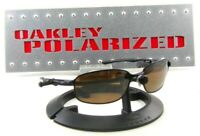 Oakley Taper OO4074 Sunglasses Black Metal Frames/ New Brown Polarized Lenses