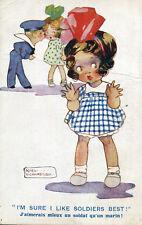LOT de 2 cartes Illustrées humour par Agnès Richardson Fillette
