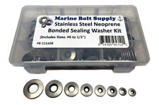 Stainless Steel Bonded Sealing Washer Assortment Kit Marine Bolt Supply 8-111428