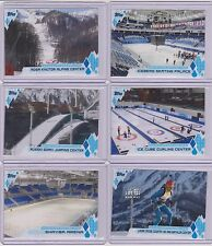2014 TOPPS OLYMPIC VENUES COMPLETE 11 CARD SET ~ SOCHI WINTER GAMES ~ RUSSIA