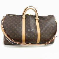 Authentic Louis Vuitton Hand Bag M41416 KeepallBandouliere 50 380049