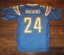 NFL Los Angeles Chargers Ryan Mathews Reebok Mens Jersey, Baby Blue, Size S, EUC