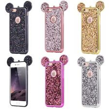 Luxury Glitter Mickey Minnie Mouse Ears Soft Case Cover For Apple iPhones