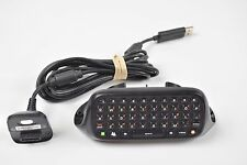 Xbox 360 Official Microsoft Chatpad Keyboard Messenger + Black Play & Charge Kit
