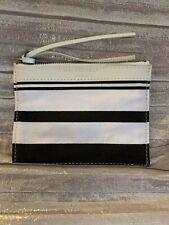 Adorable BALENCIAGA PARIS Black & White Striped Pouch...sux cute!!!