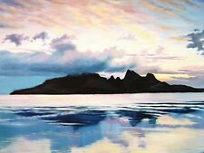 ACEO PRINT of PAINTING RYTA SCOTTISH LANDSCAPE SEASCAPE SCOTLAND ocean MOUNTAIN