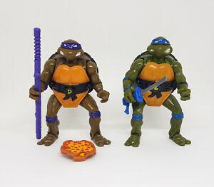 TMNT Vintage MUTATIONS Donatello & Leonardo Figure Lot 1992 Playmates