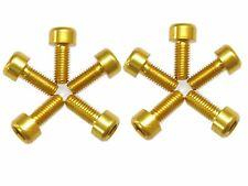 Water Bottle Cage Anodizing M5x12mm Bolts Gold 10pc Set