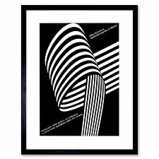 Advert Cultural Ing Italy Black White Abstract Framed Wall Art Print