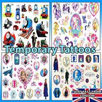 Temporary Tattoos Disney Frozen My Pony Thomas Tank Cute Designs Pack Kid Safe❤️