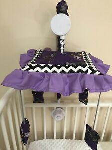 Nightmare Before Christmas Chevron Musical Crib Mobile
