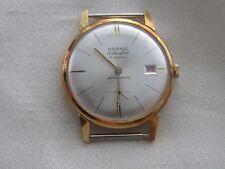 NOS Vintage  HERNA  17J  Men's Extra Flat Gold Tone Watch w/Date