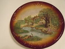 VERY RARE ANTIQUE BROTHERS URBACH (BU) PORCELAIN PLATE CZECH
