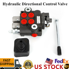 2 Spool Hydraulic Directional Control Valve For Tractor Loader Log Splitter New