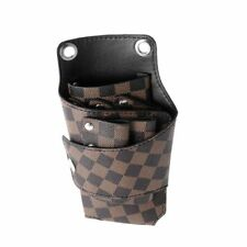 Hairdressing Bag Hair Scissor Holster PU Leather For Barber Stylist Pouch Holder