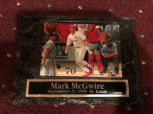 Mark McGwire #70 Sept. 27, 1998 - 70 Home Run Record Baseball Plaque