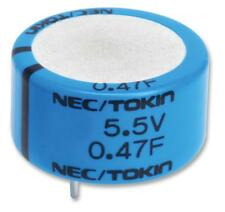 Capacitors - Supercapacitors CAP SUPER 0.1F 5.5V RAD
