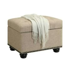 Convenience Concepts Designs4Comfort 5th Ave Storage Ottoman, Tan - 163010FT