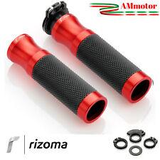 Manopole Rizoma Honda Cbr 1000 RR Moto Sport Coppia Rosse Alluminio Gomma