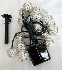 Outdoor String Lights Moroccan Solar Powered Globe Lantern Lighting 15Ft 20Led