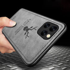 Deer Pattern Retro Leather Bumper Case Cover For iPhone 12 Pro Max 11 XR XS 7 8