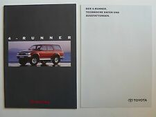 Prospekt Toyota 4-Runner, 2.1992, 24 Seiten + Datenblatt