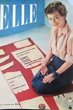 MAGAZINE ELLE N° 215 de 1950 MODE COUTURE MANTEAUX DE PLUIE ROBES DE NUITS