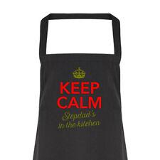 Stepdad Gift Apron Funny Personalised Keepsake Cooking Present Cotton Stepdad