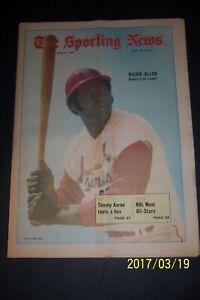 1970 Sporting News ST LOUIS Cardinals DICK ALLEN No Label UTOPIA IN ST LOUIS N/L