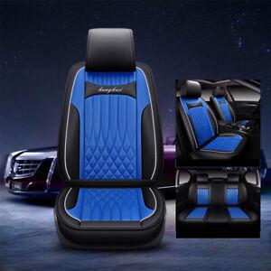 Black Blue Car Seat Cover Set Full Front Rear Mitsubishi Lancer 5 Seat Outlander