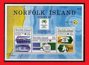 ZAYIX - 1988 Norfolk Island 439a MNH - SYDPEX '88 / transportation / ships