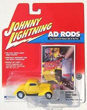JOHNNY LIGHTNING R2 AD RODS 1934 FORD COUPE STREET ROD rubber tires #74