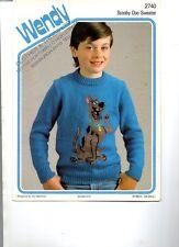 Knitting Pattern SCOOBY DOO Sweater-copia SOLO MODELLO-dimensioni 24-34 pollici