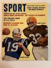 1962 December Sport Magazine Jimmy Brown Browns, Johnny Unitas Colts ,(B86)