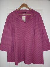 New Evans pink/silver stripe cotton shirt size 30 - rrp £23