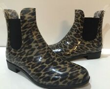 Sam Edelman Tinsley Rain Bootie Women Leopard-Print Rubber Boots Size 10 NWOB