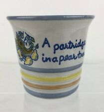 Louisville Stoneware Partridge in a Pear Tree Christmas Punch Cup As Is Flaw