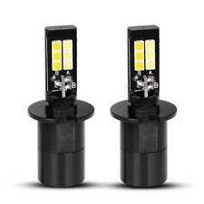 2pcs H3 High Power 160W LED Fog Light Bulbs Driving DRL White Amber Dual Color