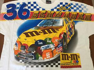 2000 Vintage NASCAR Shirt Ken Schrader M&M'S Racing 2XL All Over Print NOS Rare